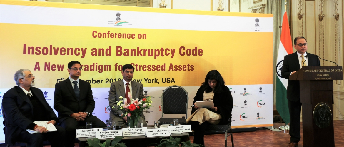 Conference on 'Insolvency and Bankruptcy Code - A New Paradigm for Stressful Assets' at the Consulate (Dec 5, 2018)