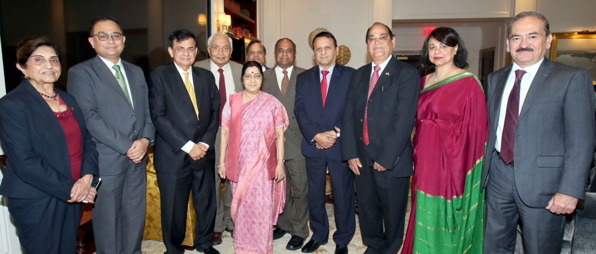 Community Connect: Ms Sushma Swaraj, External Affairs Minister met with representative of GOPIO on the sidelines of her UNGA visit to New York