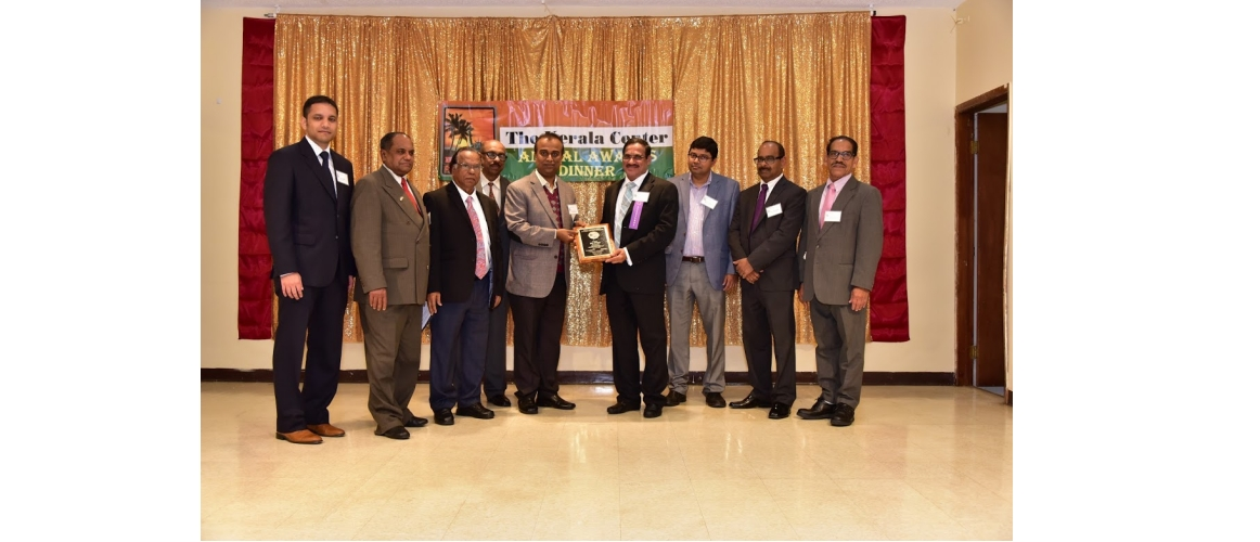26th Annual Awards Banquet at  Indian American Kerala Cultural and Civic Center, Elmont, New York on November 3, 2018