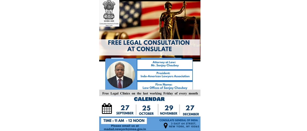 Free Legal Consultation@Consulate