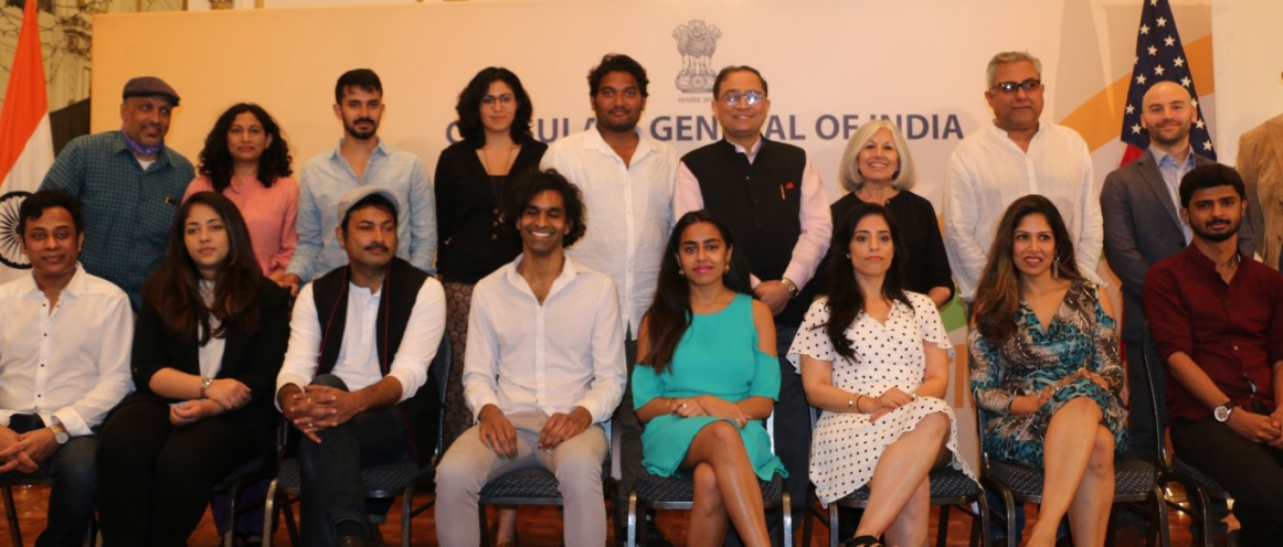The Consulate General of India, New York hosted the Press Conference of the 18th Annual New York Indian Film Festival at the Consulate on May 4 2018. The Indo- American Arts Council is organising the 18th Annual New York Indian Film Festival from 7 May to 12 May 2018. An interactive session with the media was held at the Consulate where the trailers of the films were shown. The remarks at the Press Conference were given by Ms. Aroon Shivdasani, Executive and Artistic Director of Indo- American Arts Council and Mr. Aseem Chhabra, Director of New York Indian Film Festival.
