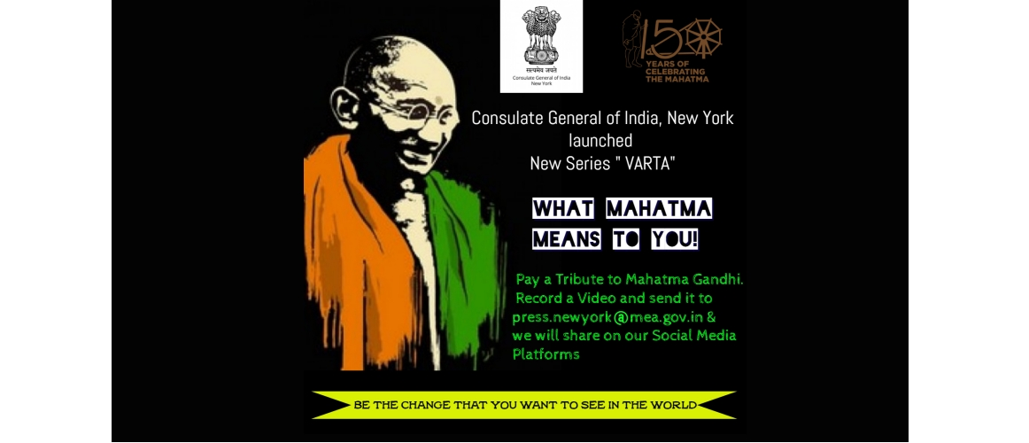 New Series Varta - What Mahatma means to you