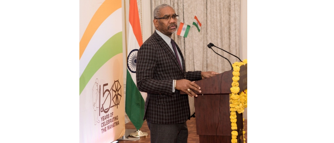 Congressman Gregory Meeks addressing the audience on the occasion of 70<sup>th</sup> Republic Day of India