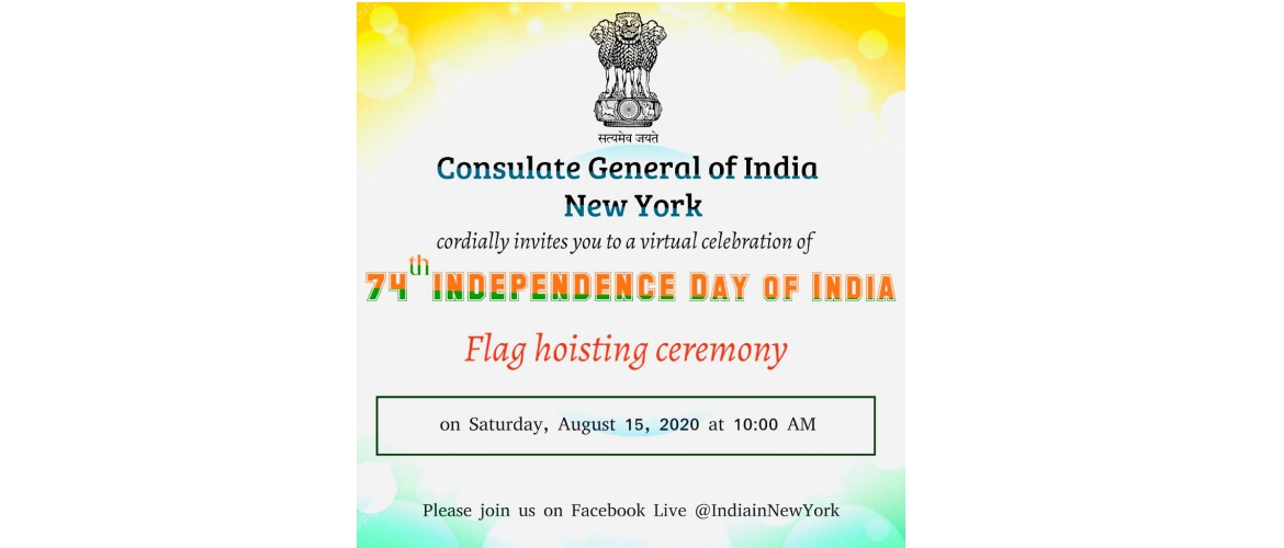Virtual Independence Day Celebrations on August 15, 2020