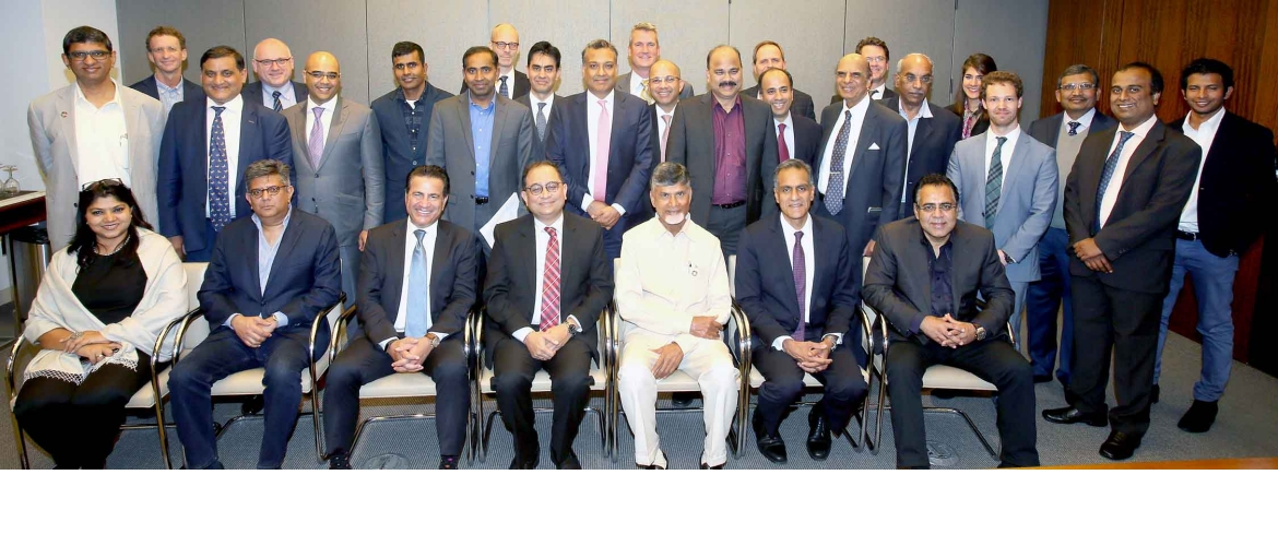 Hon'ble Chief Minister of Andhra Pradesh Mr. Chandrababu Naidu interacted with potential investors & companies doing business with the State at New York (September 25, 2018)