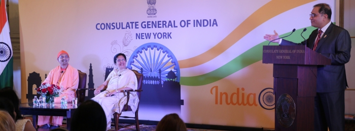 "Awaken the Leader in you"" Lecture at consulate by Mrs. Jaya Row on May 1, 2018"