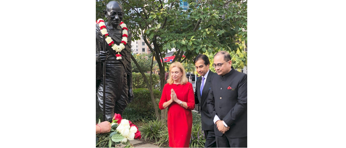 Celebration of 149<sup>th</sup> Birth Anniversary of Mahatma Gandhi at Union Square Park on October 2, 2018
