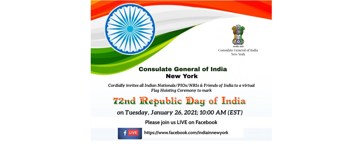 72nd Republic Day of India on January 26, 2021