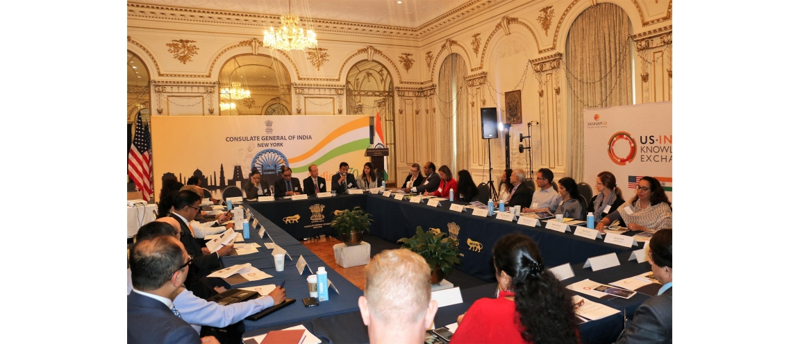 US - India Knowledge Exchange Roadshow held at the Consulate General of India New York on September 17, 2018, supported by Sannam S4 and United States-India Strategic Partnership (USISPF)