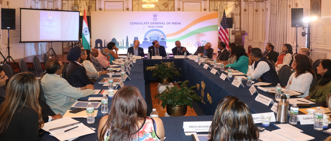 UNITED FOR IMPACT: A Roundtable for Organizations working in Development Sector in India, held at the Consulate on August 21, 2018