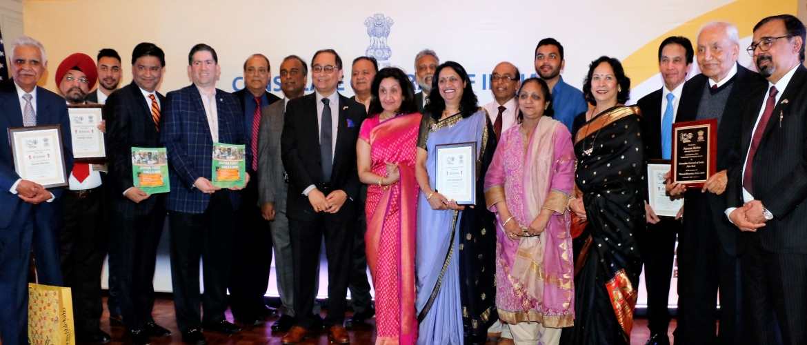 Consul General honoured and felicitated Indian Nationals/PIOs/NRIs on the occasion of Pravasi Bharatiya Divas & World Hindi Day (Jan 12, 2019)